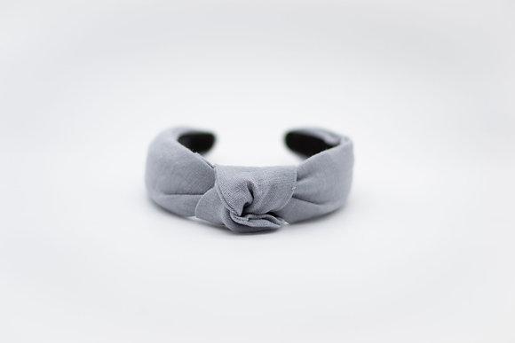 Linen Headband-ash