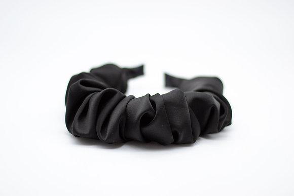 Ruched Headband-black