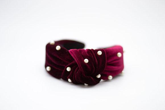 Pearl Headband-merlot