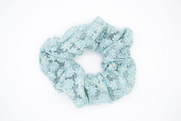 Kids Lace Scrunchie-carolina blue