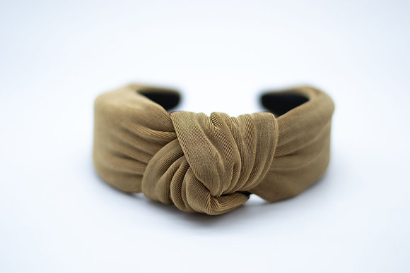 Textured Knit Headband-taupe