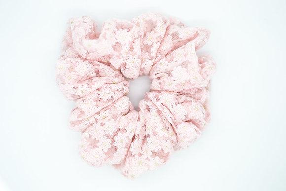 Lace Cloud Scrunchie-pink