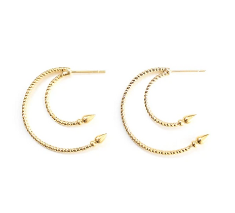 Venus earrings-gold