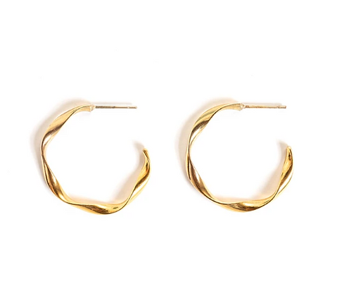 Twist earrings-gold