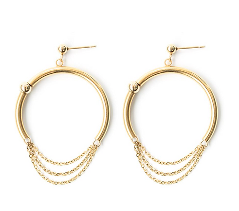 Pierce earrings-gold