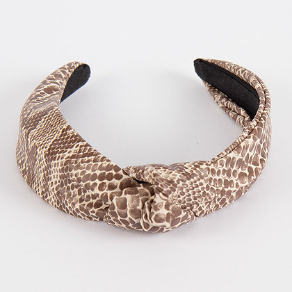Knotted Headband-faux snake
