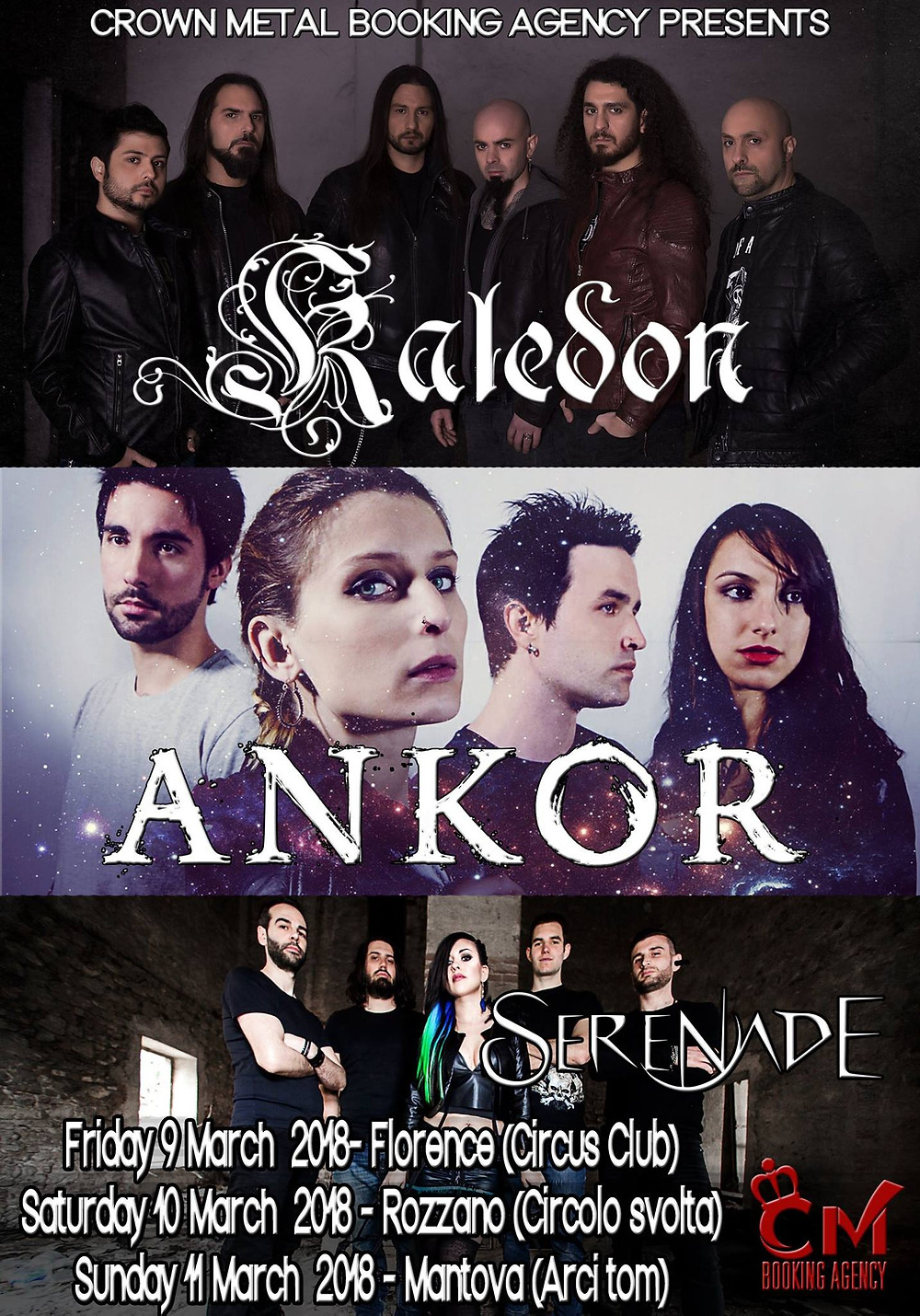 After a short break, we are glad to announce that our tour continues with three Italian dates, where we will support Kaledon and Ankor.