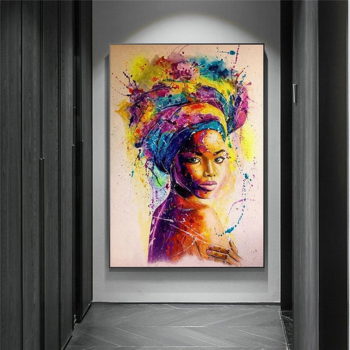 Goddess of Color Graffiti Abstract Canvas Paintings