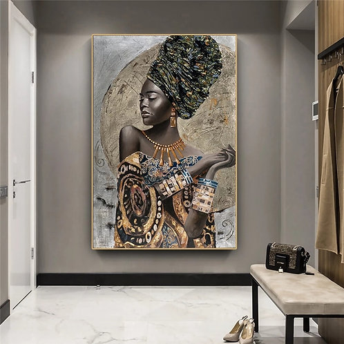 African Goddess Graffiti Abstract Canvas Paintings