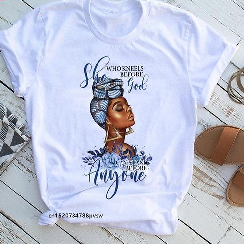 Beauty African Lady Women T Shirt