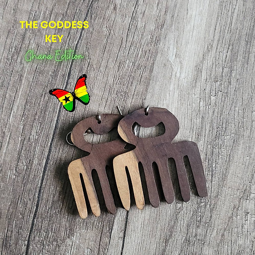 Wooden Authentic African Earrings