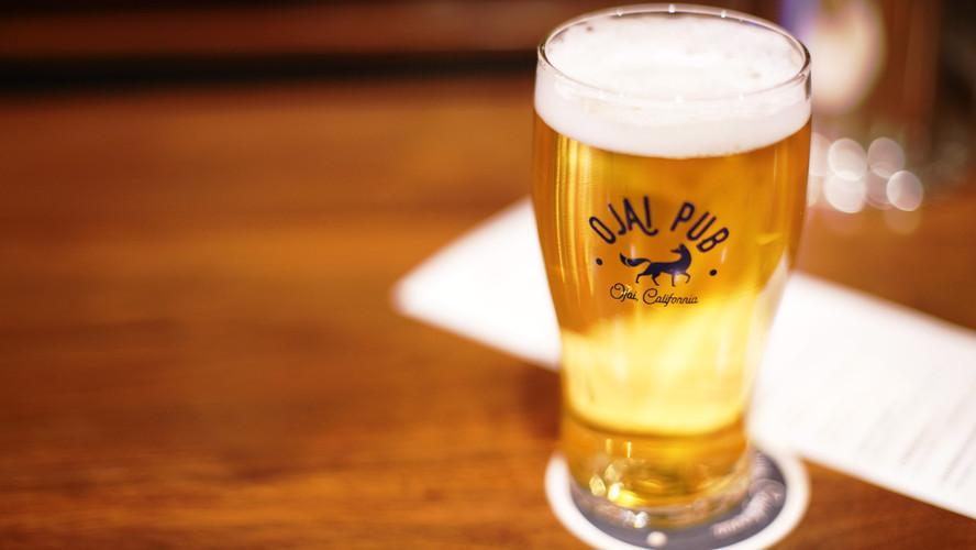 A pint of craft beer at Ojai Pub