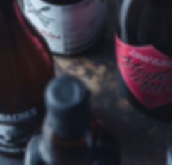 Close up up a selection of bottles of craft beer