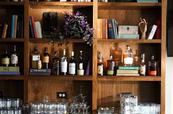 Behind the bar at Ojai Pub