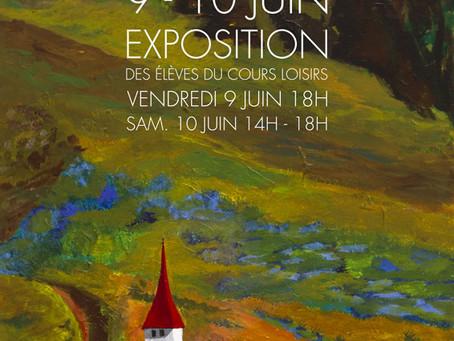 Expo de l'atelier dessin/peinture