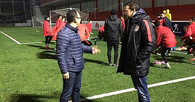 Vicente Martínez visita la Academia de Fútbol del Atlético de Madrid