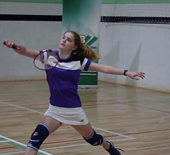 Nuestra jugadora de bádminton Laura Anglada, subcampeona de Andalucía sub-17.