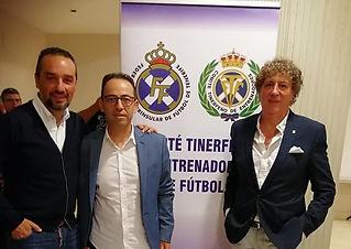 Jose Luís Oltra, Vicente Martínez y Tolo Darder en Tenerife