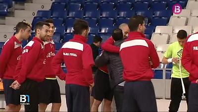 Vicente Martínez se despide de la plantilla y del cuerpo técnico del Palma Futsal