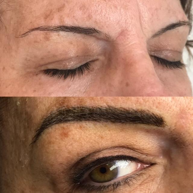 Microblading w/Shading; Eyeliner
