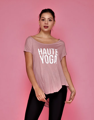 Amore Short Sleeves Top Graphic V.2 in Dusty pink