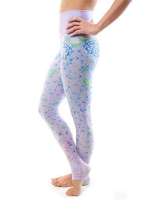 High Waisted Legging - Hydrangea