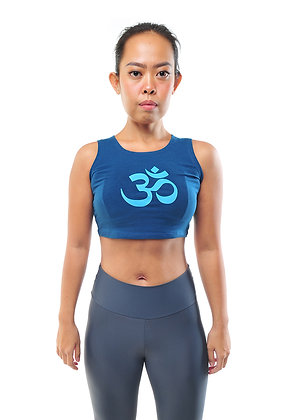 Mantra Crop Top Graphic in Tosca