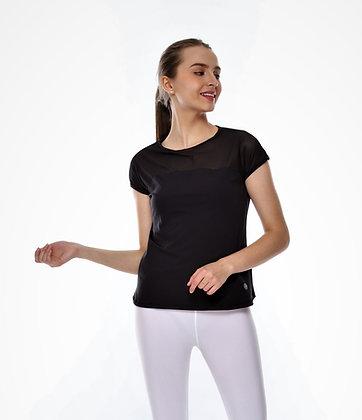 Breeze Short Sleeves Top in Black