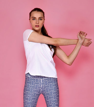 Breeze Short Sleeves Top in White