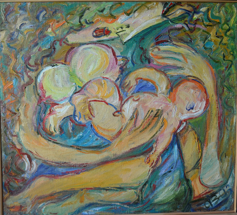 Woman with Child 112х101cm