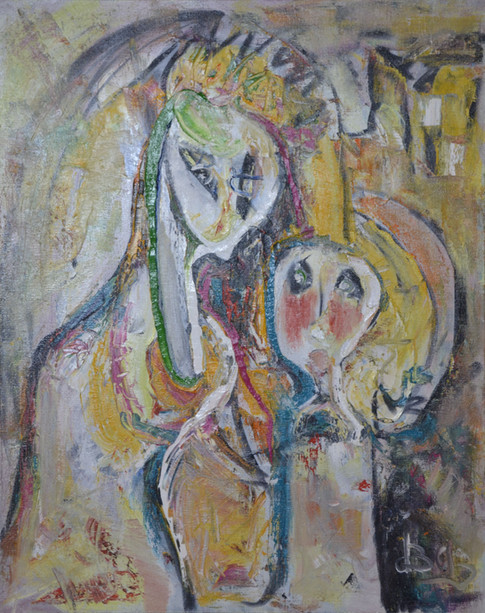 Madonna with a Child, 105x84