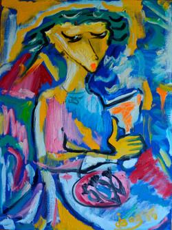 Woman in a Restaurant 60x80