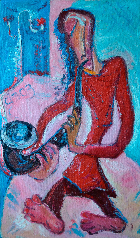 Saxophonist, 65х107