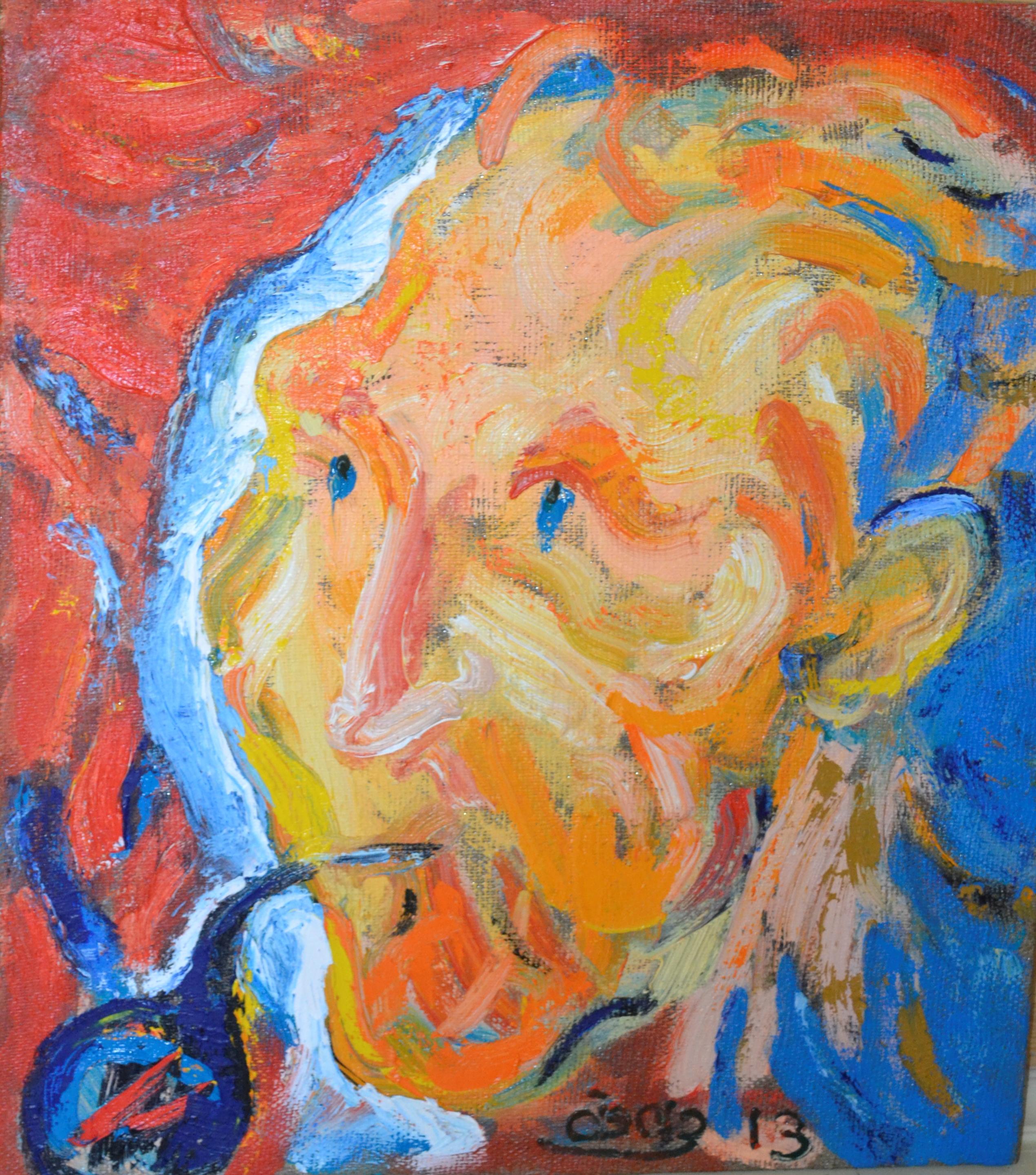Portrait of Vincent Van Gogh 80x70cm