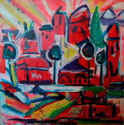 Landscape in Red Hues