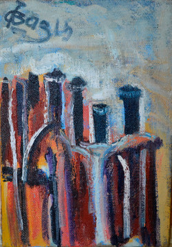 Bottles (number 5) 47х68cm