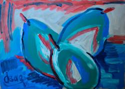 Still Life with Pears-2 50х70cm