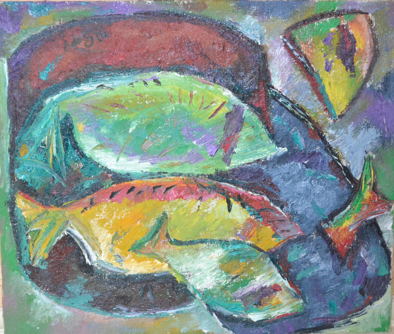 Flatfish On A Plate 68х58cm