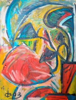 Red Flower 60х80cm