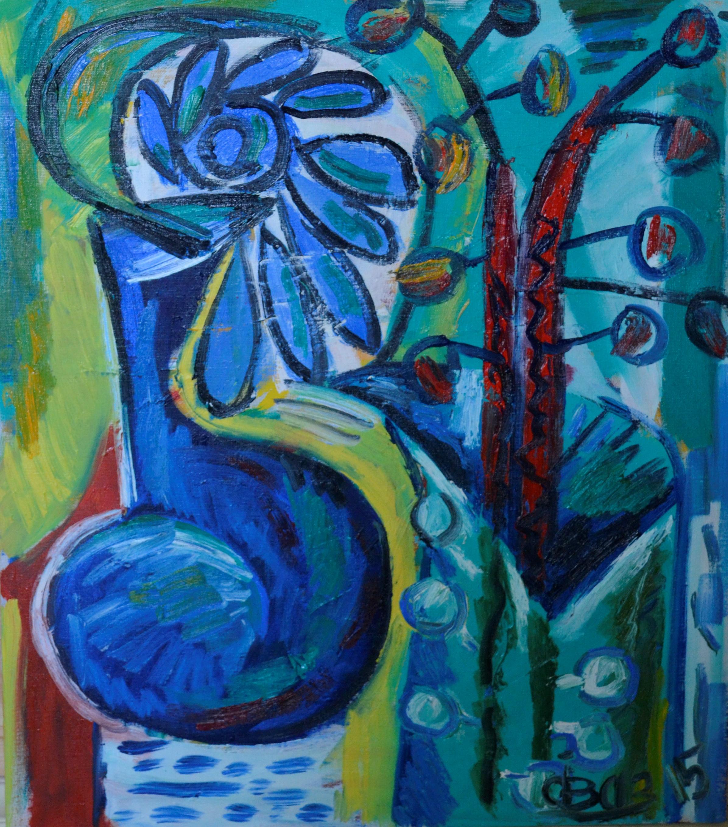Still Life With Blue Flower 70х80cm