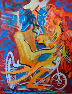 Two on a bicycle 70х90cm