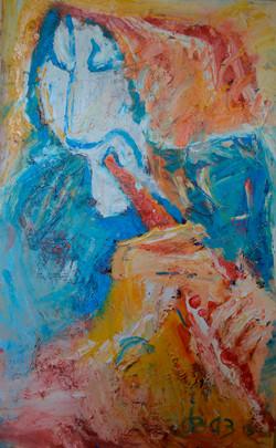Old Saxophonist 80х125cm