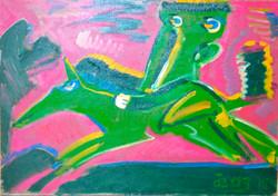 Green Horseman 74x103