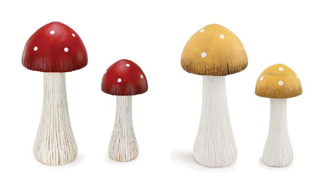 Resin Mushrooms (Set of 2)