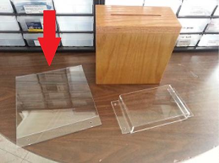 Wooden Locking Suggestion Acrylic Signholder