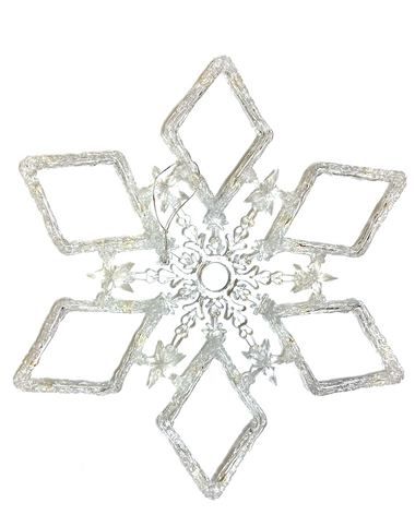 19.5 Inch Acrylic Snowflake Ornament.png