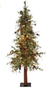 5' Country Pine Tree w Lights