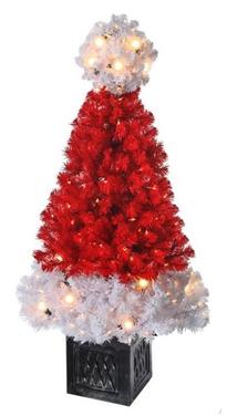 """36"""" Santa Hat Tree w/Lights"""
