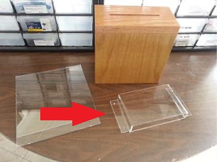 Wooden Locking Suggestion Acrylic Pocket