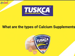 Tuskca Chewable Sugar Free Calcium Tablets for Women & MEN